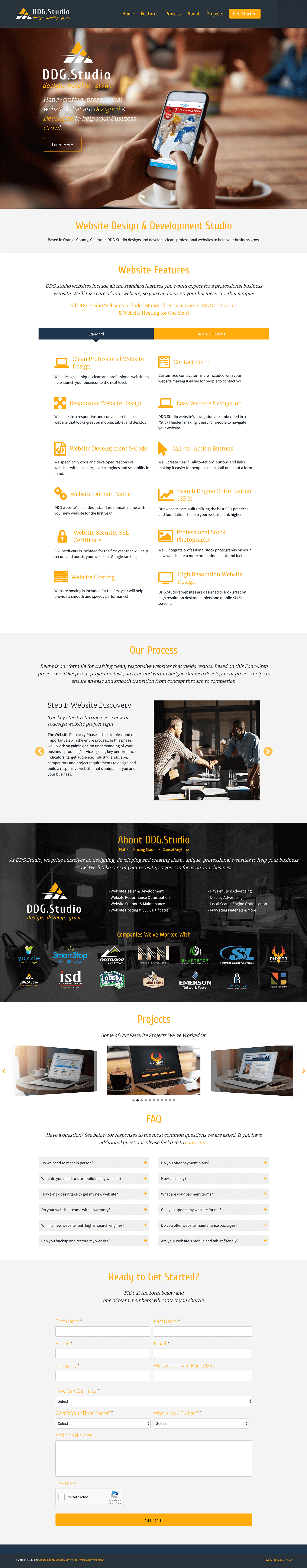 DDG-Studio-Responsive-One-Page-Website-Design-Web-Home-Page