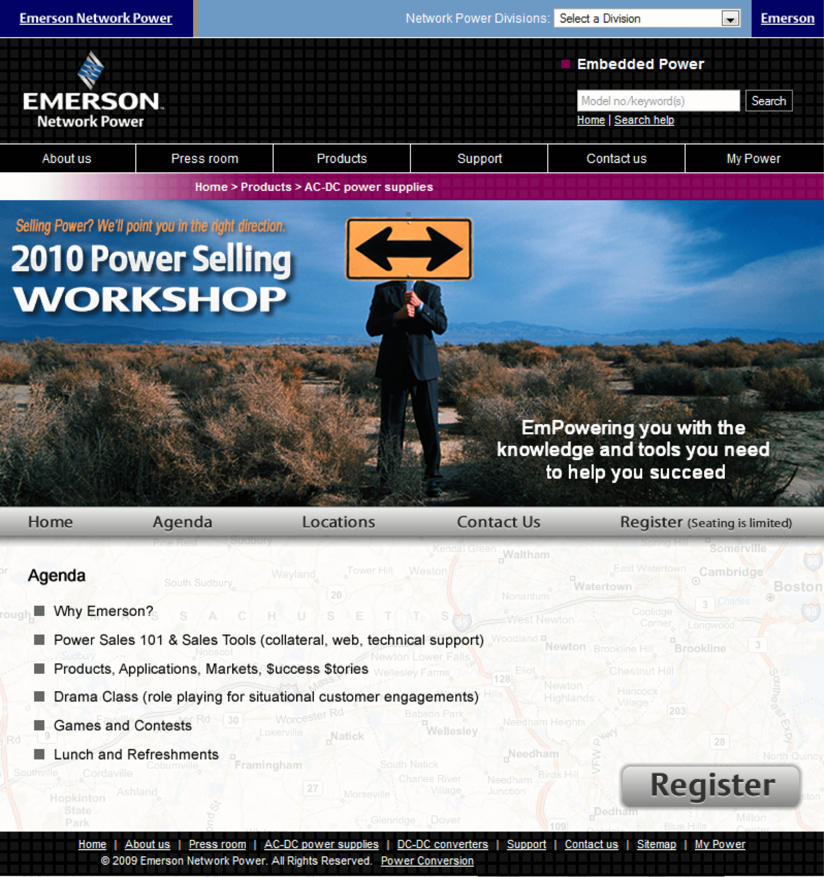 Emerson-AC-DC-Power-Supplies-Conference-Roadshow-Website-Design-Conference-Agenda