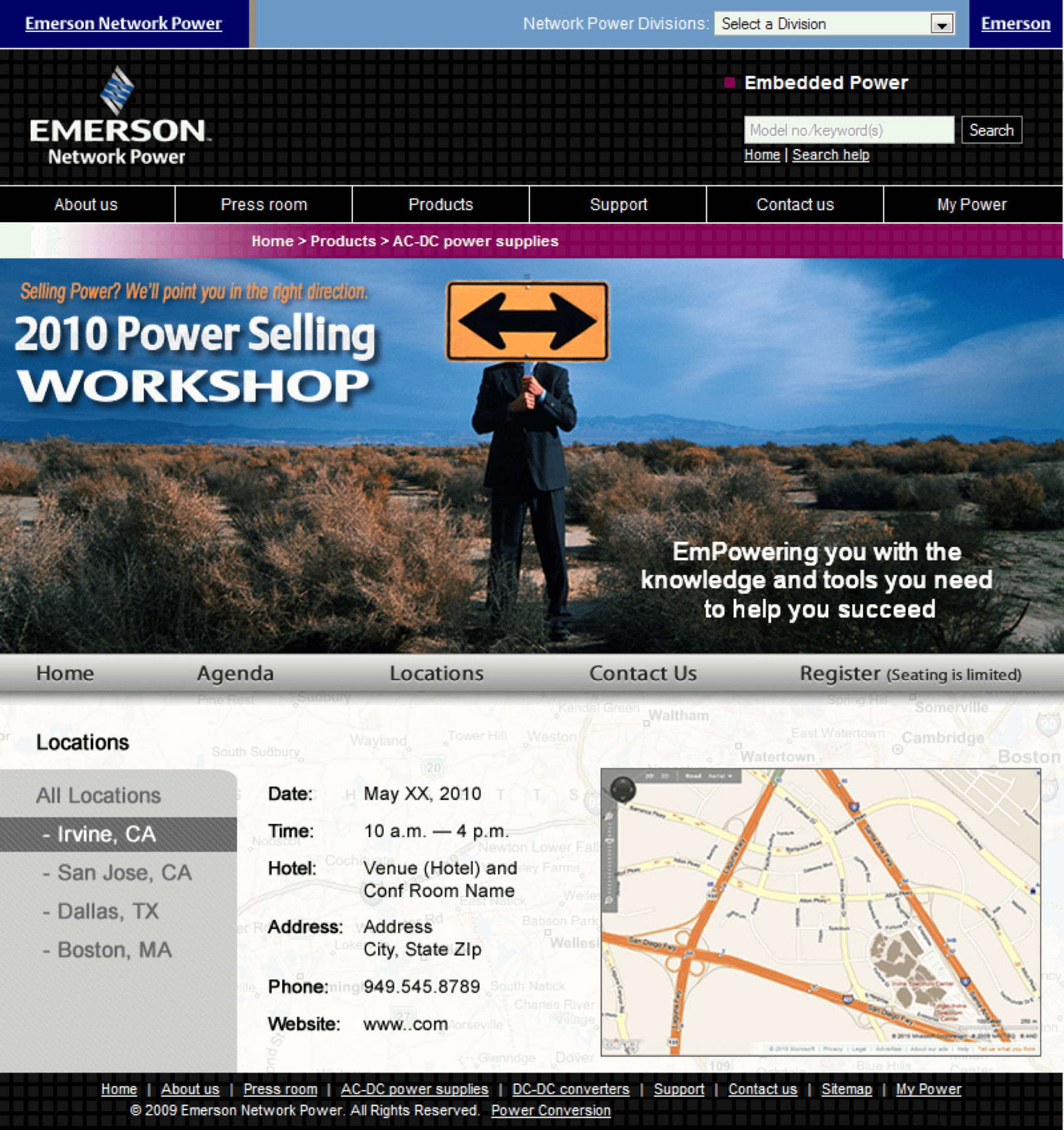 Emerson-AC-DC-Power-Supplies-Conference-Roadshow-Website-Design-Conference-Location