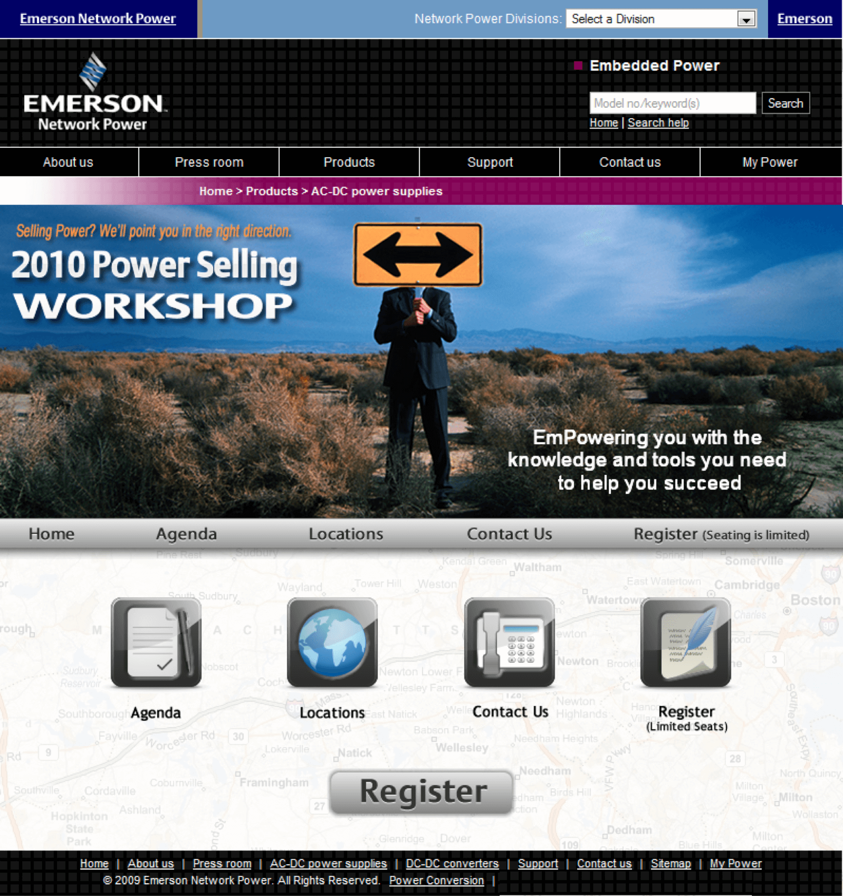 Emerson-AC-DC-Power-Supplies-Conference-Roadshow-Website-Design-Conference