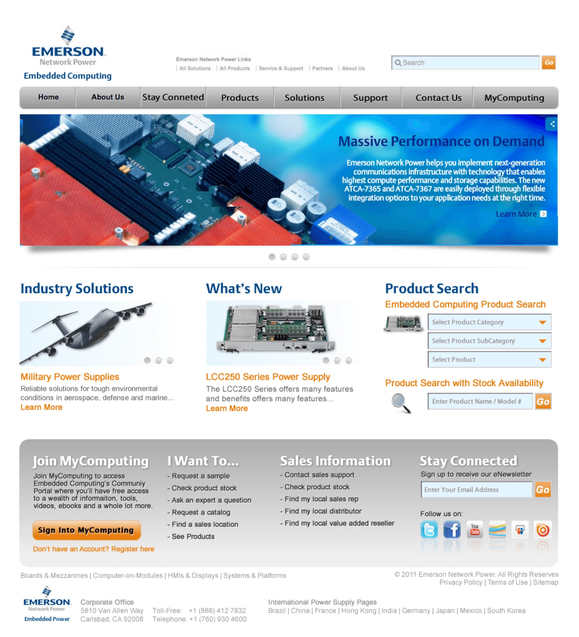 Emerson-Embedded-Computing-Home-Page