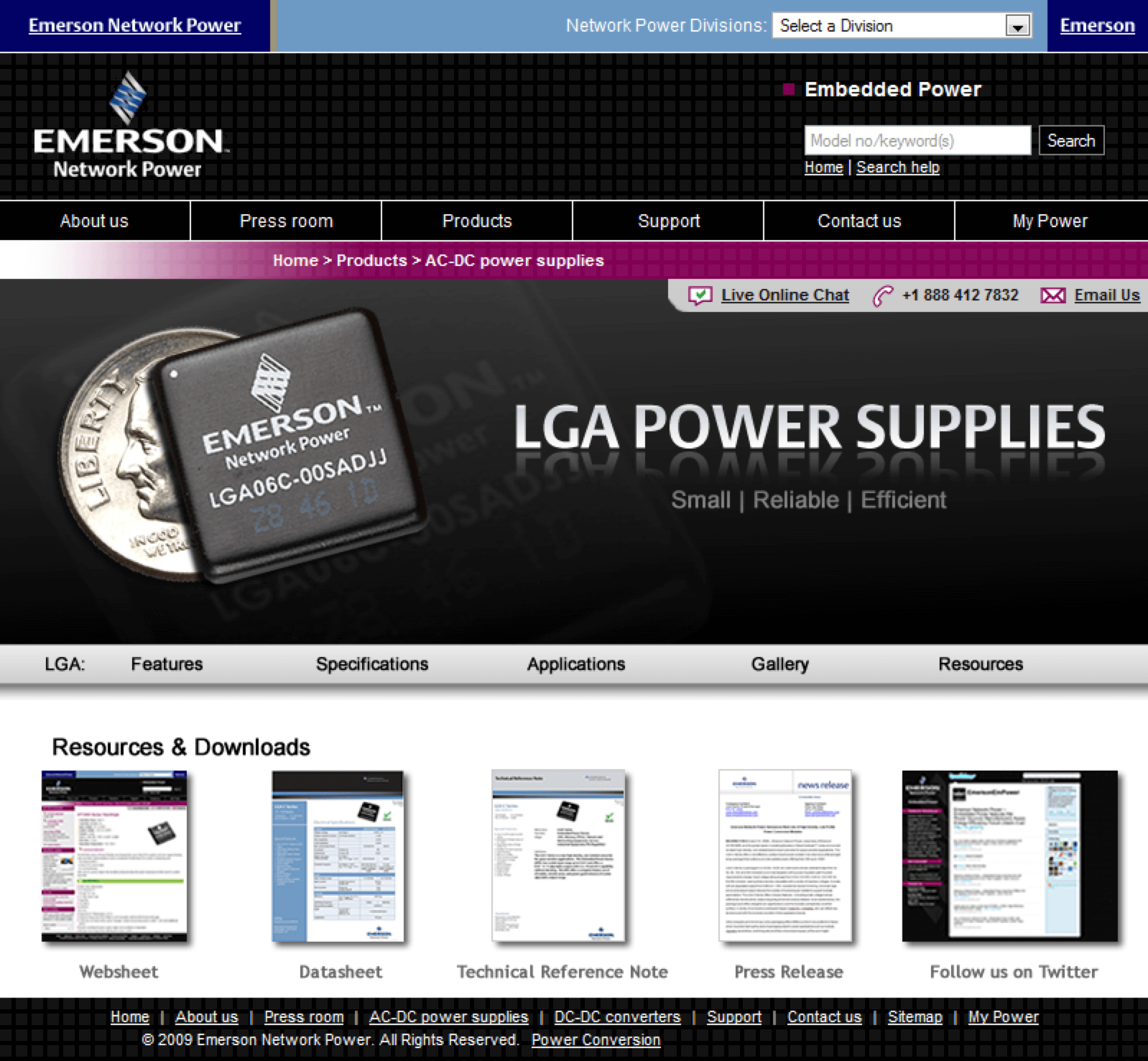 Emerson-LGA-Power-Supplies-Website-Design-Conference-Roadshow-Resources