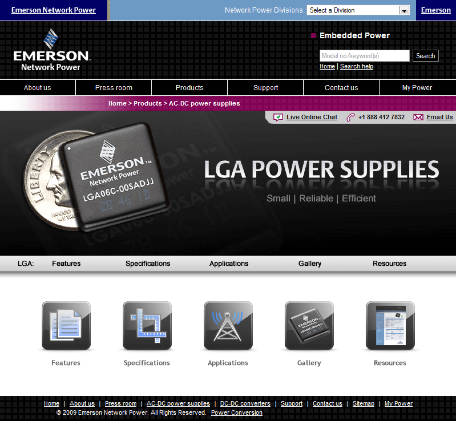 Emerson-LGA-Power-Supplies-Website-Design-Conference-Roadshow