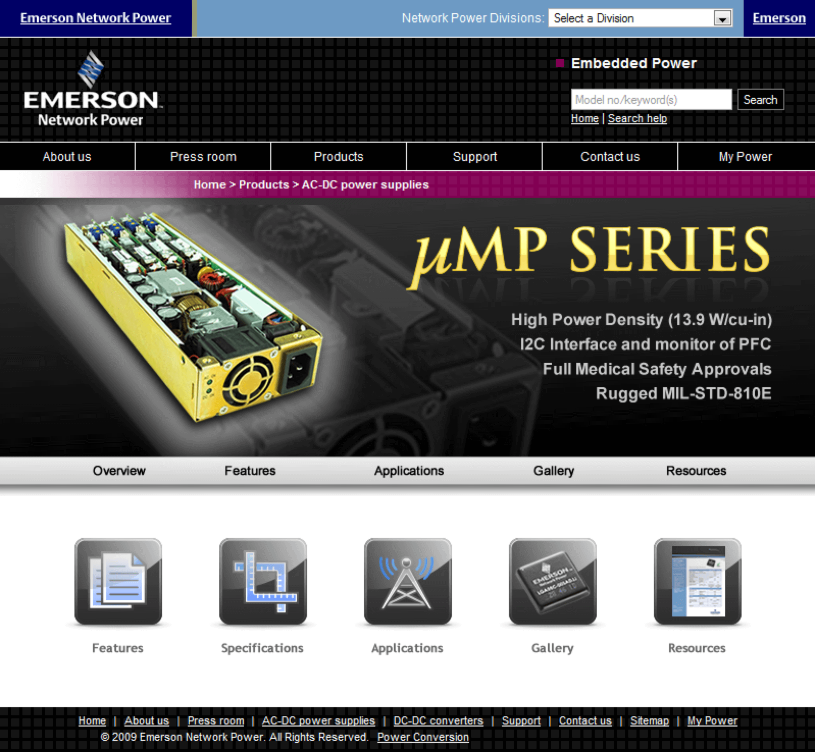 Emerson-UMP-Power-Supplies-Website-Design-Conference-Roadshow
