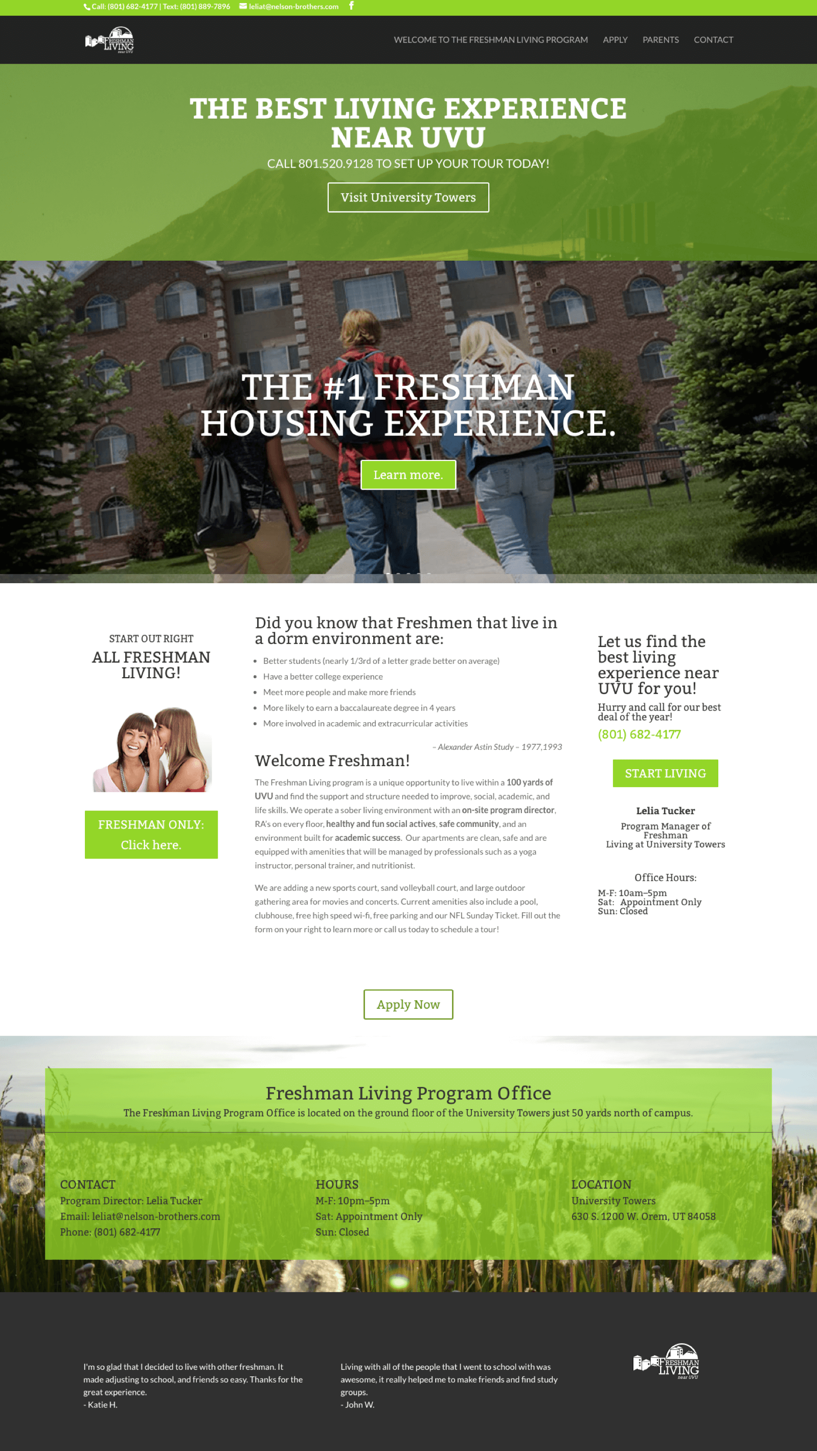 Freshman-University-Student-Expereince-Website-Design-Home-Page