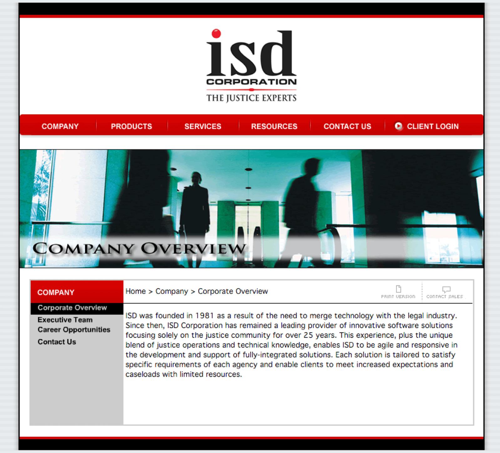 ISD-Corporation-Judicial-Software-Website-Design-Home-Page -Company