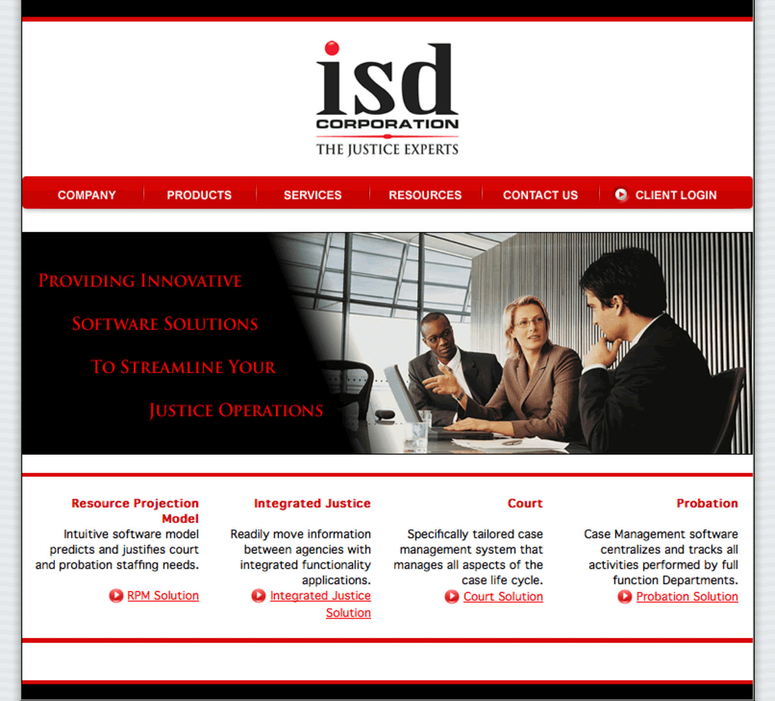 ISD-Corporation-Judicial-Software-Website-Design-Home-Page