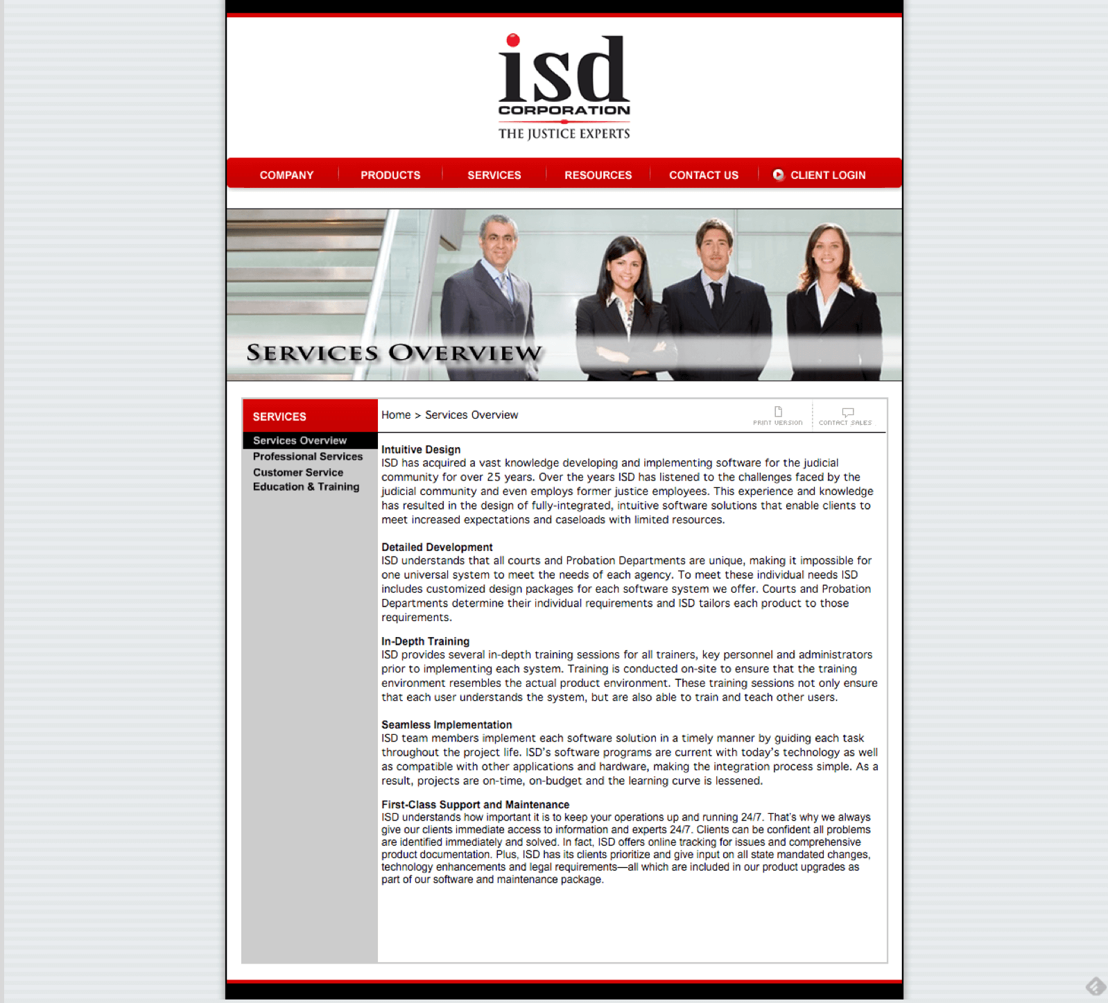 ISD-Corporation-Judicial-Software-Website-Design-Services-Page