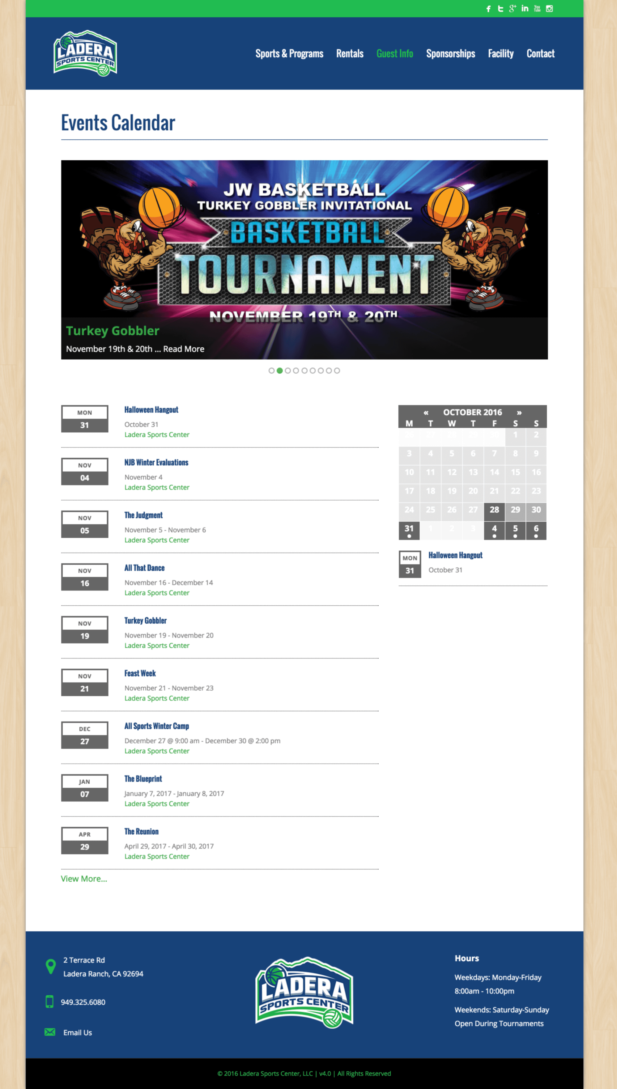 Ladera-Sports-Athletic-Center-Website-Design-Basketball-Tournament-Page