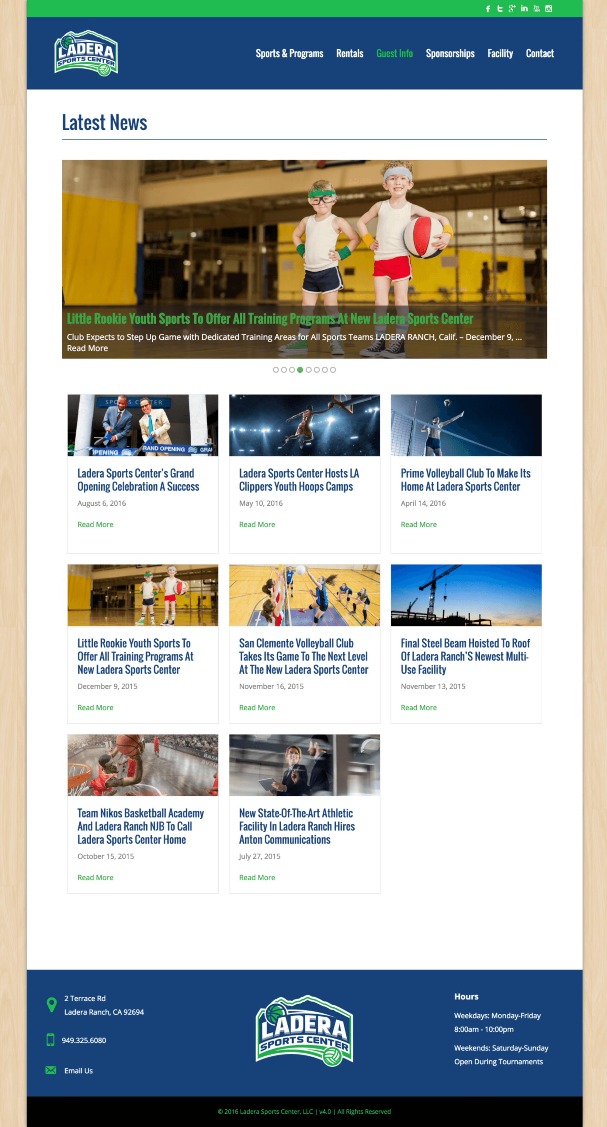 Ladera-Sports-Athletic-Center-Website-Design-Blog-Page