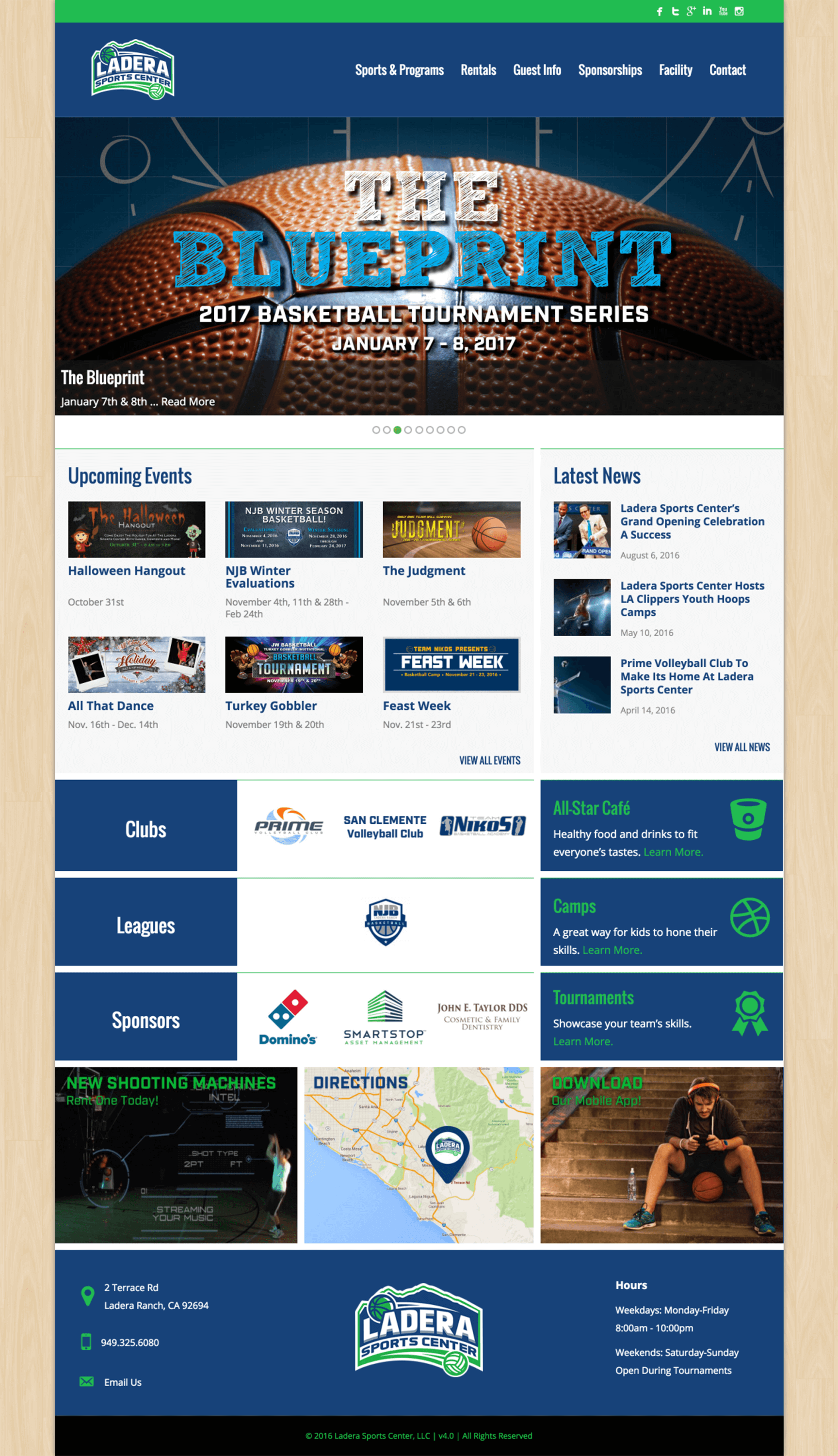 Ladera-Sports-Athletic-Center-Website-Design-Home-Page