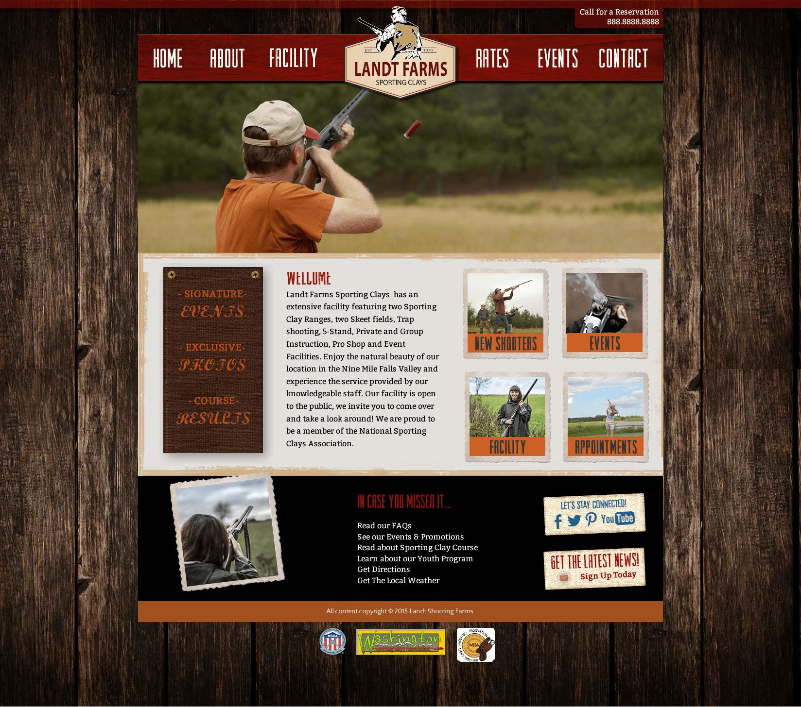 Land-Shotgun-Clay-Shooting-Course-Website-Design-Home-Page