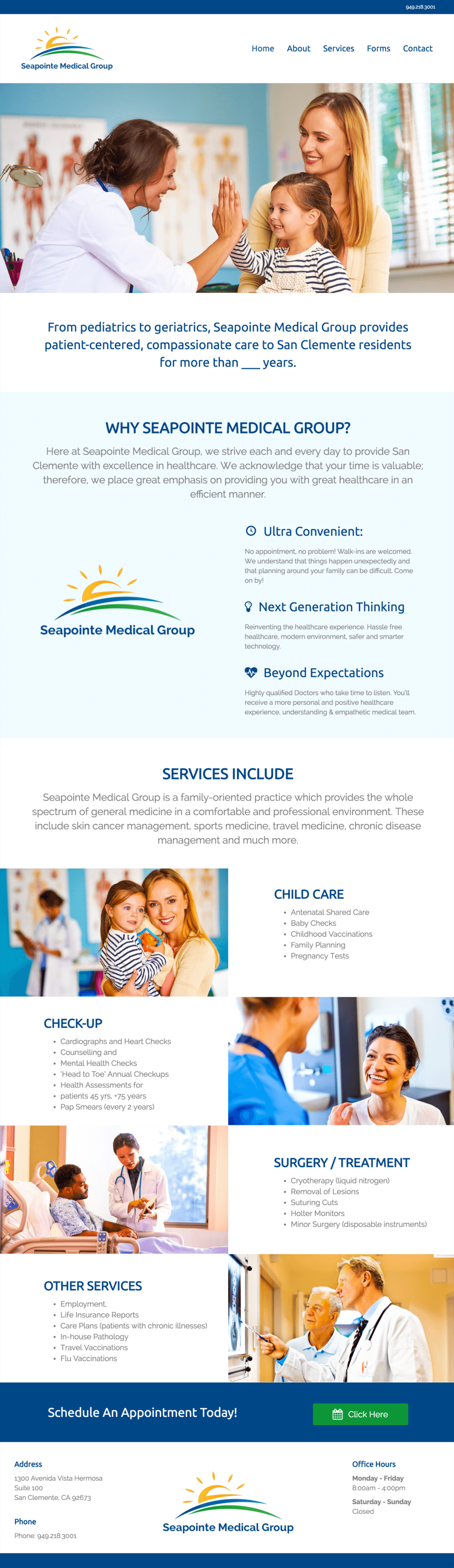 Seapoinite-Medical-Group-Doctors-Office-Website-Design-Home-Page