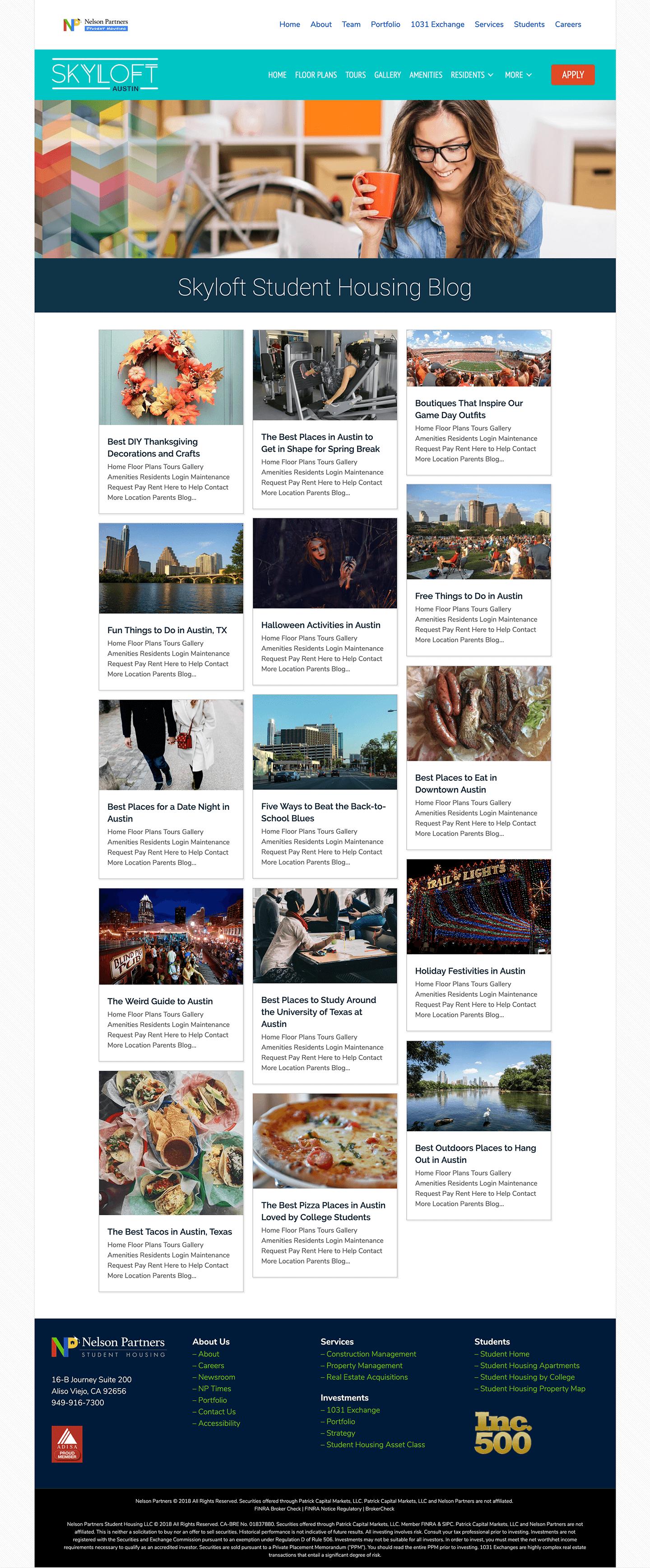 Skyloft-Student-Housing-Apartments-Website-Design-Blog-Page