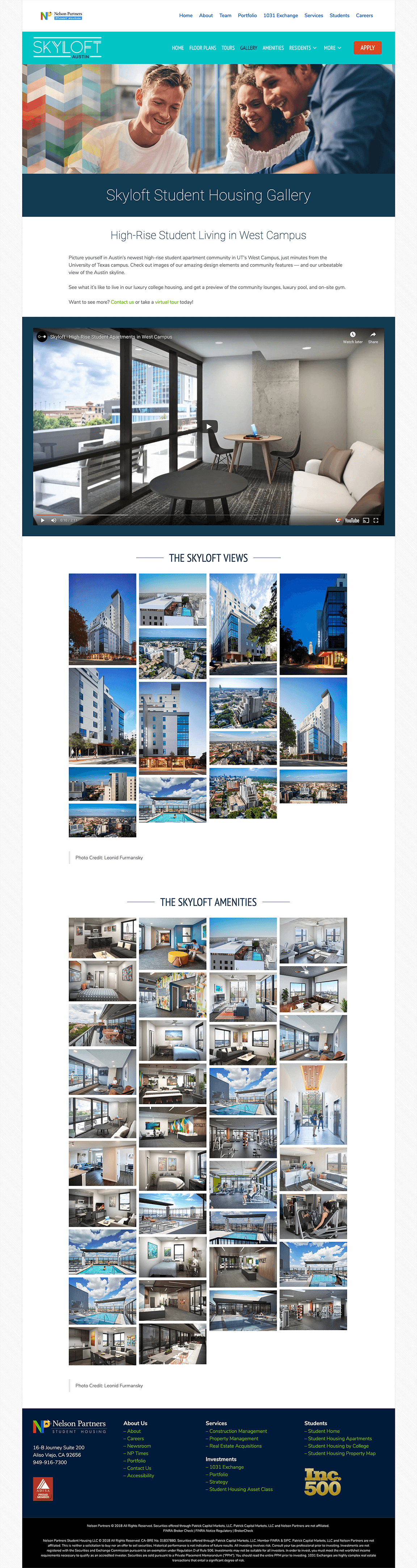 Skyloft-Student-Housing-Apartments-Website-Design-Gallery-Page
