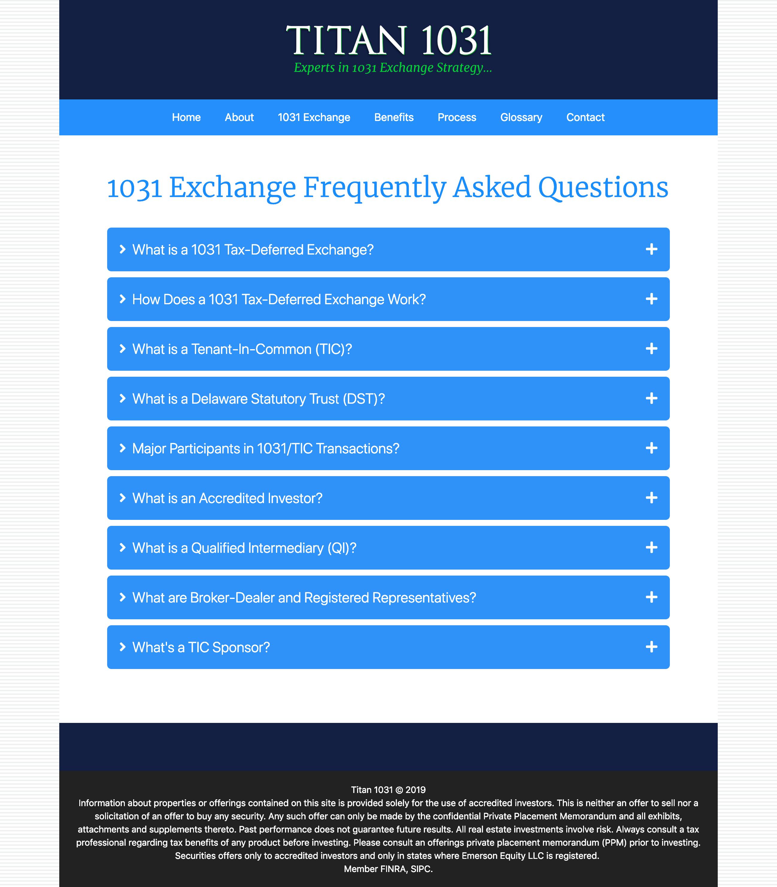 Titan-1031-Real-Estate-Exchange-Website-Design-FAQ-Page