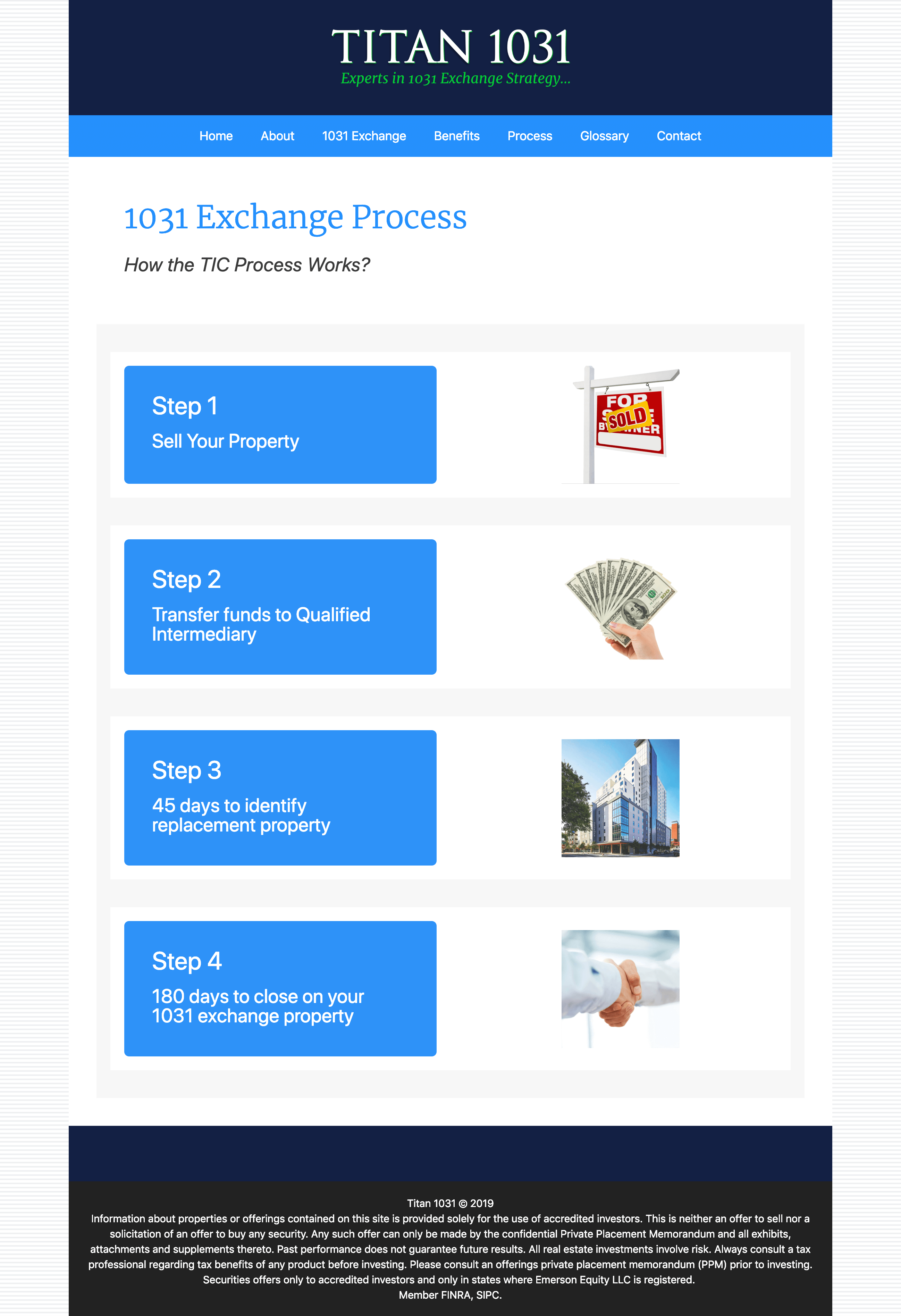Titan-1031-Real-Estate-Exchange-Website-Design-Process-Page