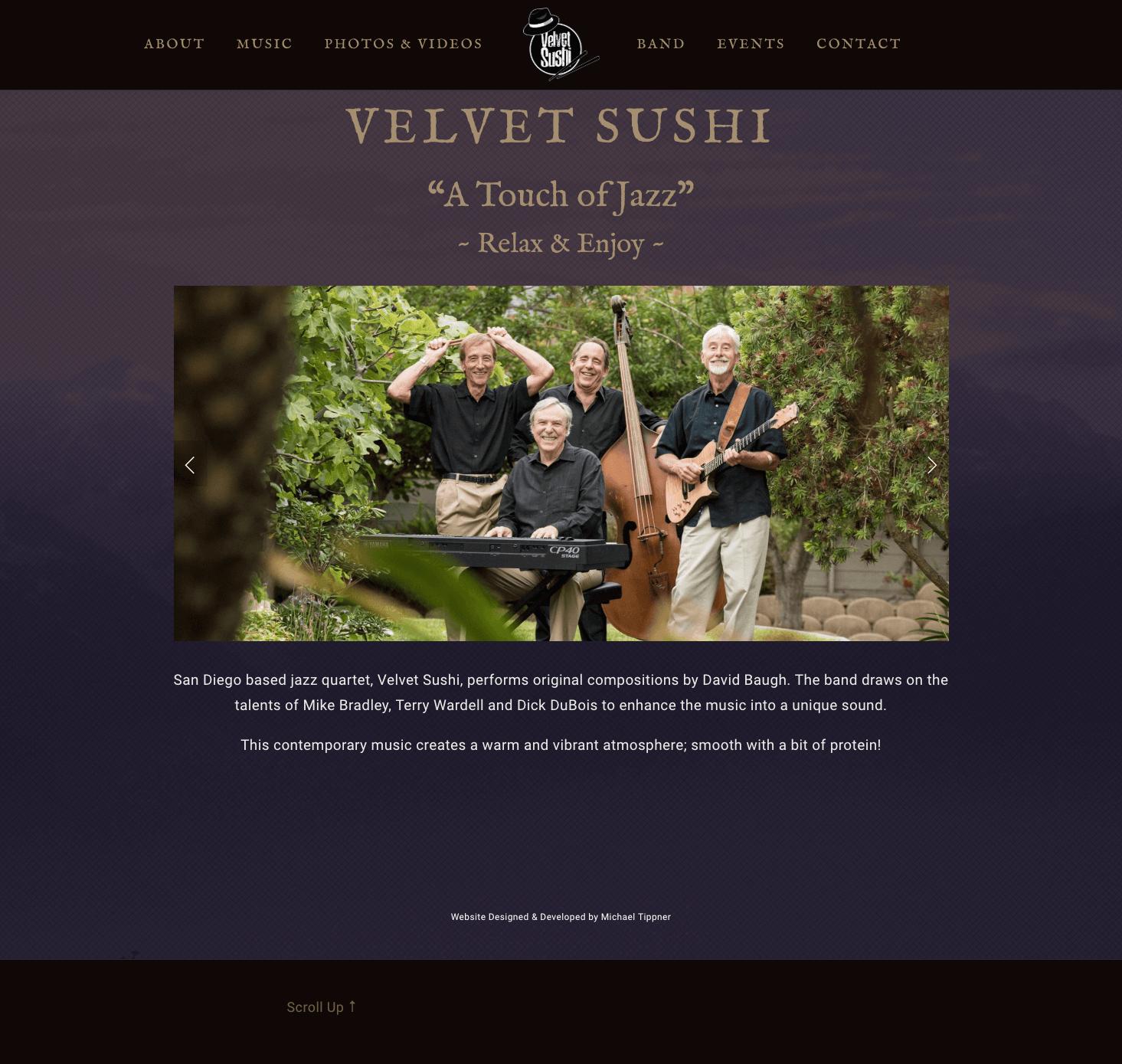 Velvet-Sushi-Jazz-Band-Website-Design-Home-Page