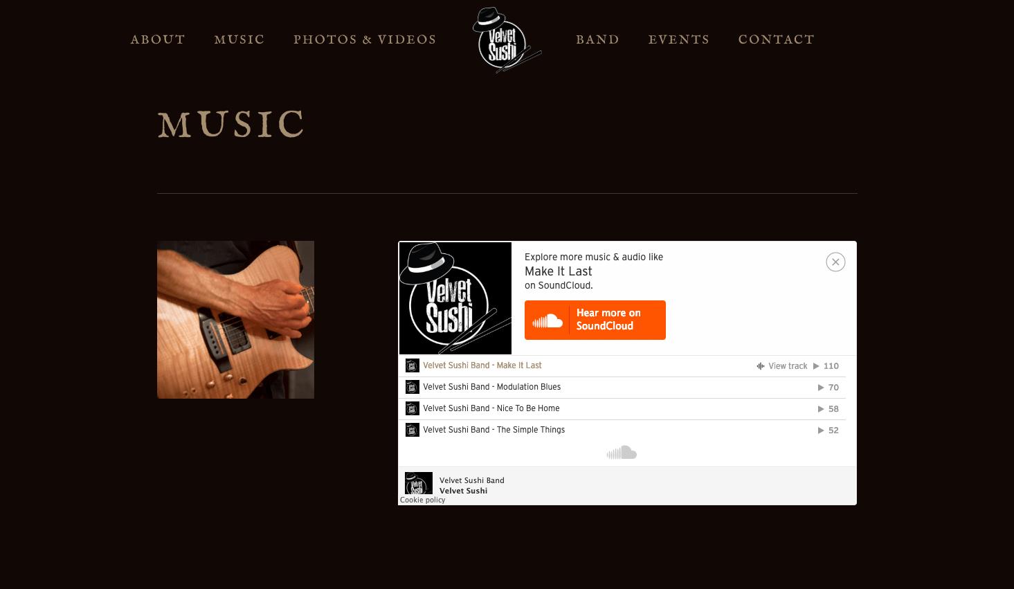 Velvet-Sushi-Jazz-Band-Website-Design-Music-Page