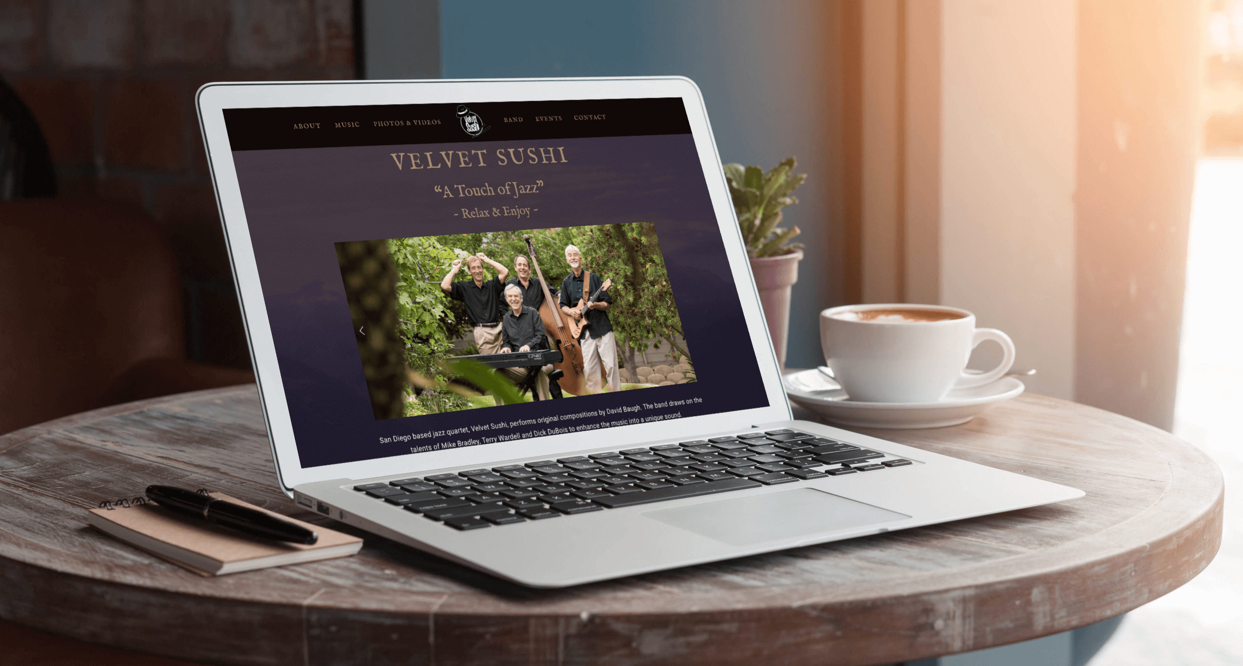 Velvet Sushi Band - Phoenix Website Design Studio