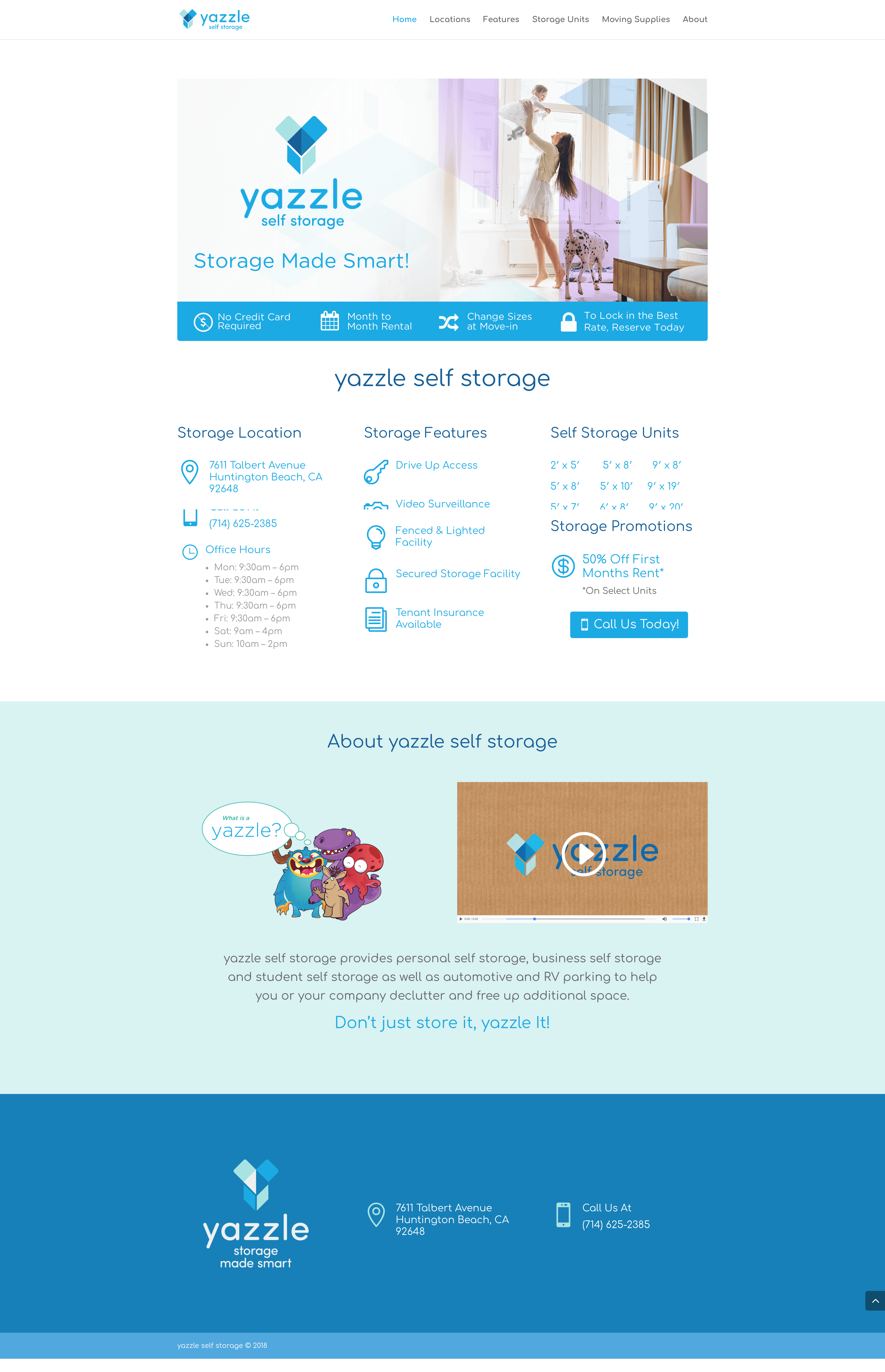 Yazzle-Self-Storage-Units-Website-Design-Home-Page