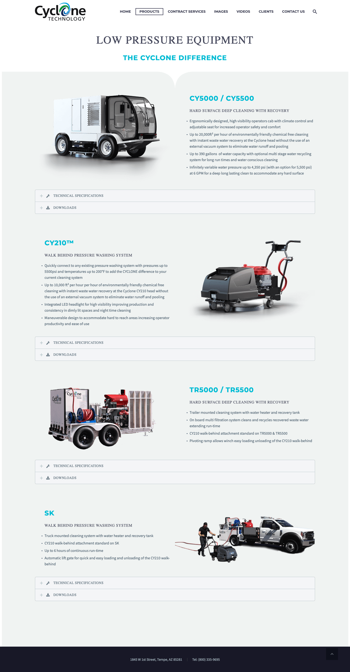 cyclone-clean-technology-low-pressue-website-design
