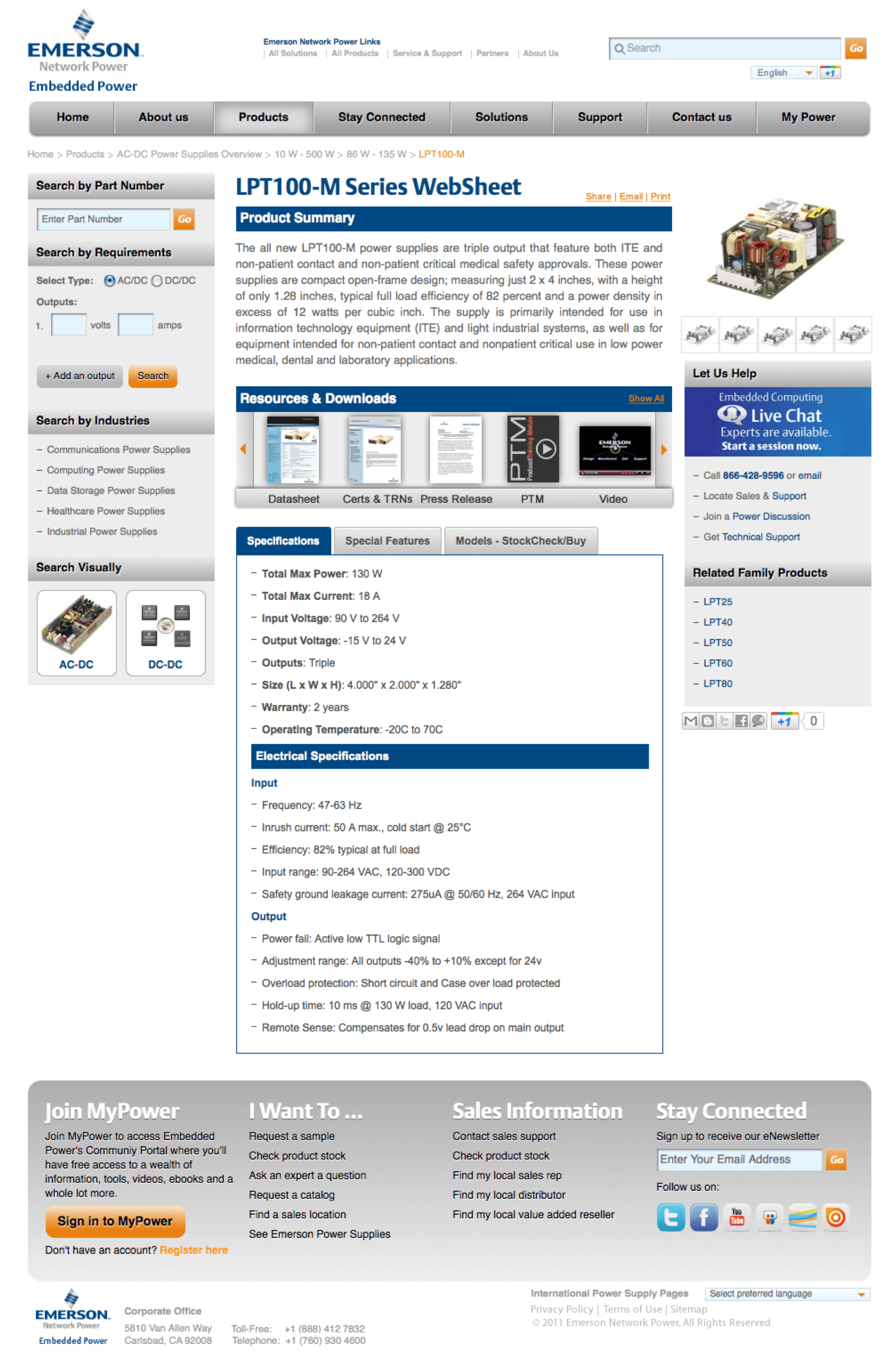 emerson-embedded-ac-dc-power-supplies-website-design-product-LPT100-M