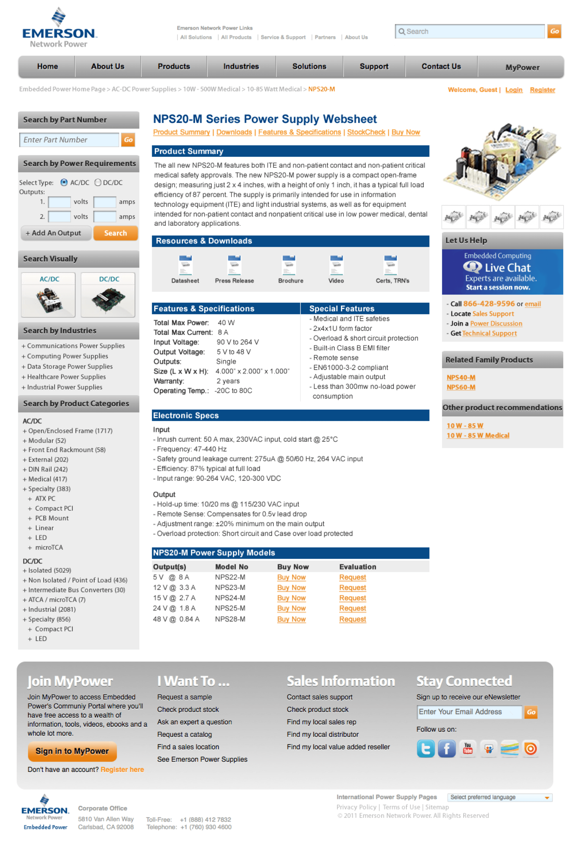 emerson-embedded-ac-dc-power-supplies-website-design-product-NPS20-M-M