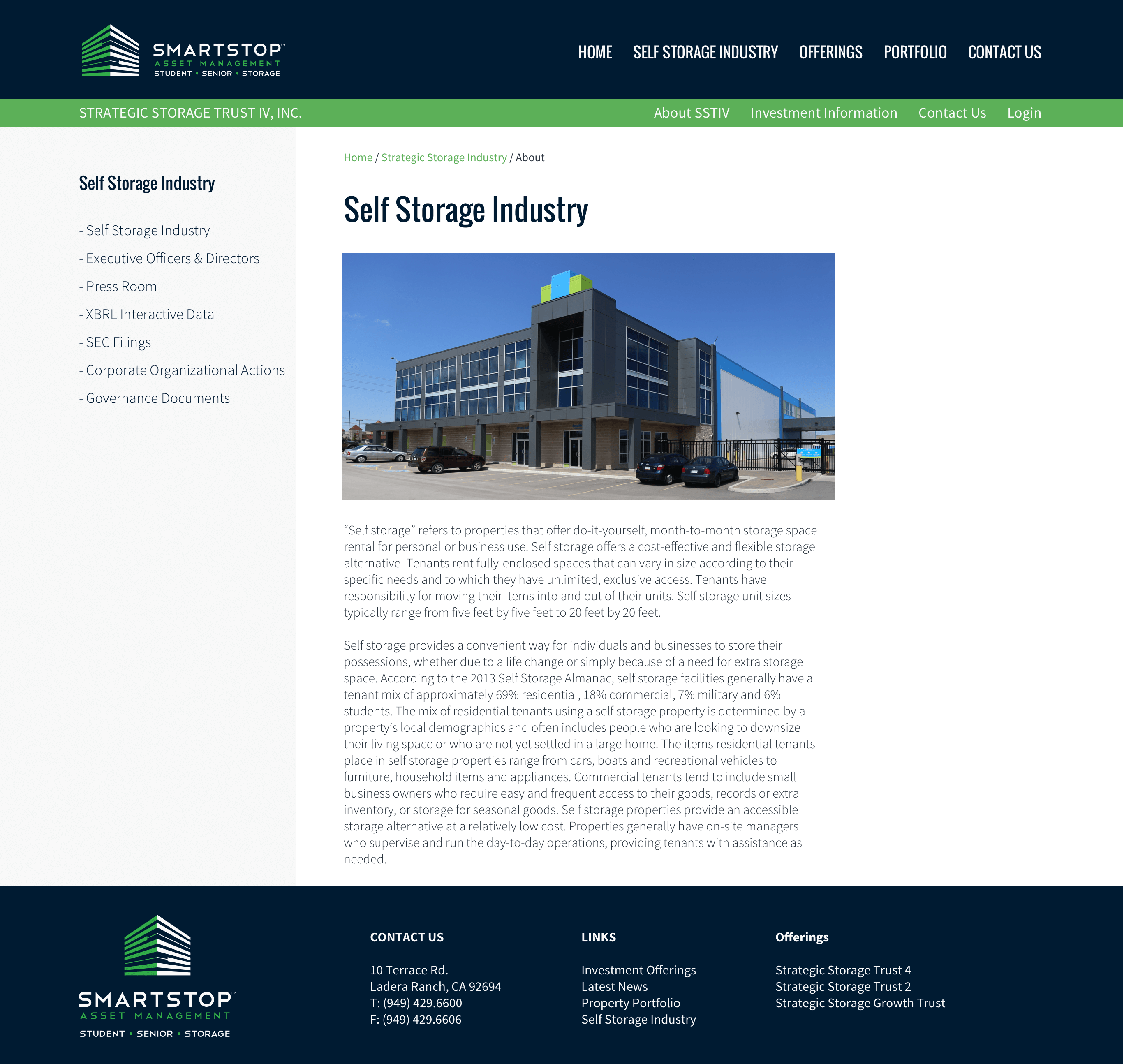 Strategic-REIT-Website-Design-REIT-and-1031-Exchange-Real-Estate-Investment-Trust-Self-Storage-Page