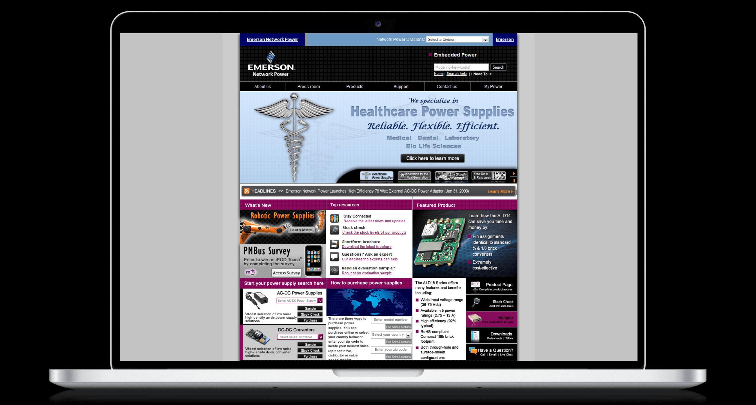 PHX-Web-Agency-Emerson-AC-DC-Power-Supplies-DC-DC-Converters-Website-Design-After