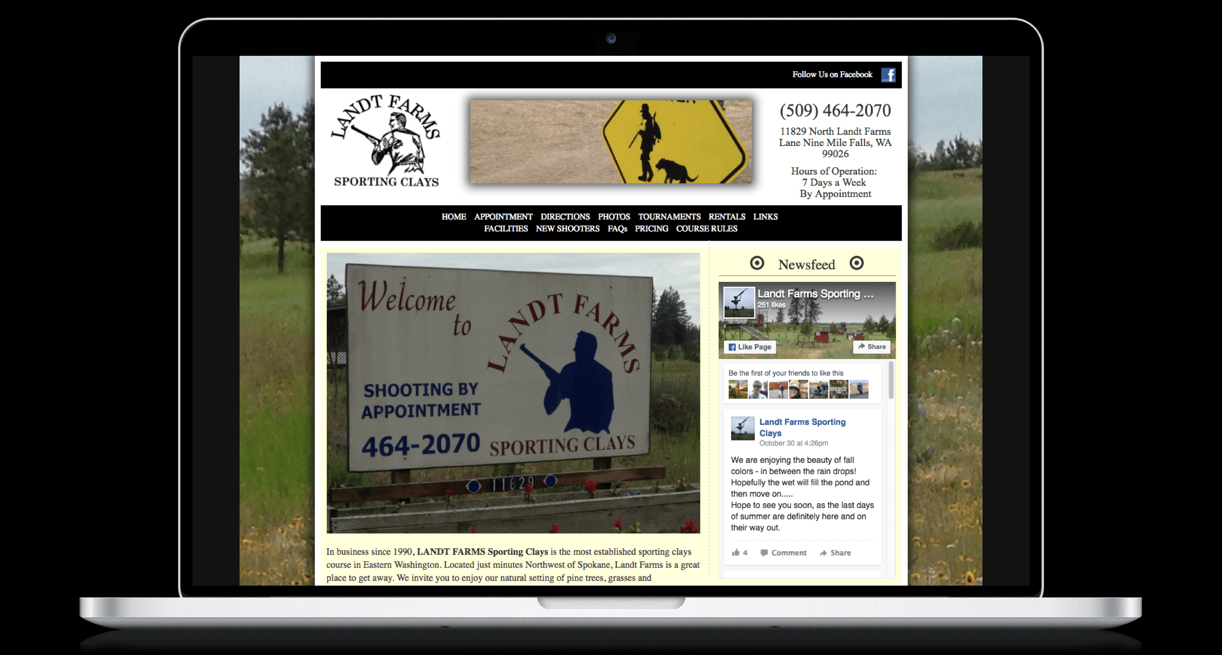 PHX-Web-Agency-Land-Shotgun-Clay-Shooting-Course-Website-Design-Before