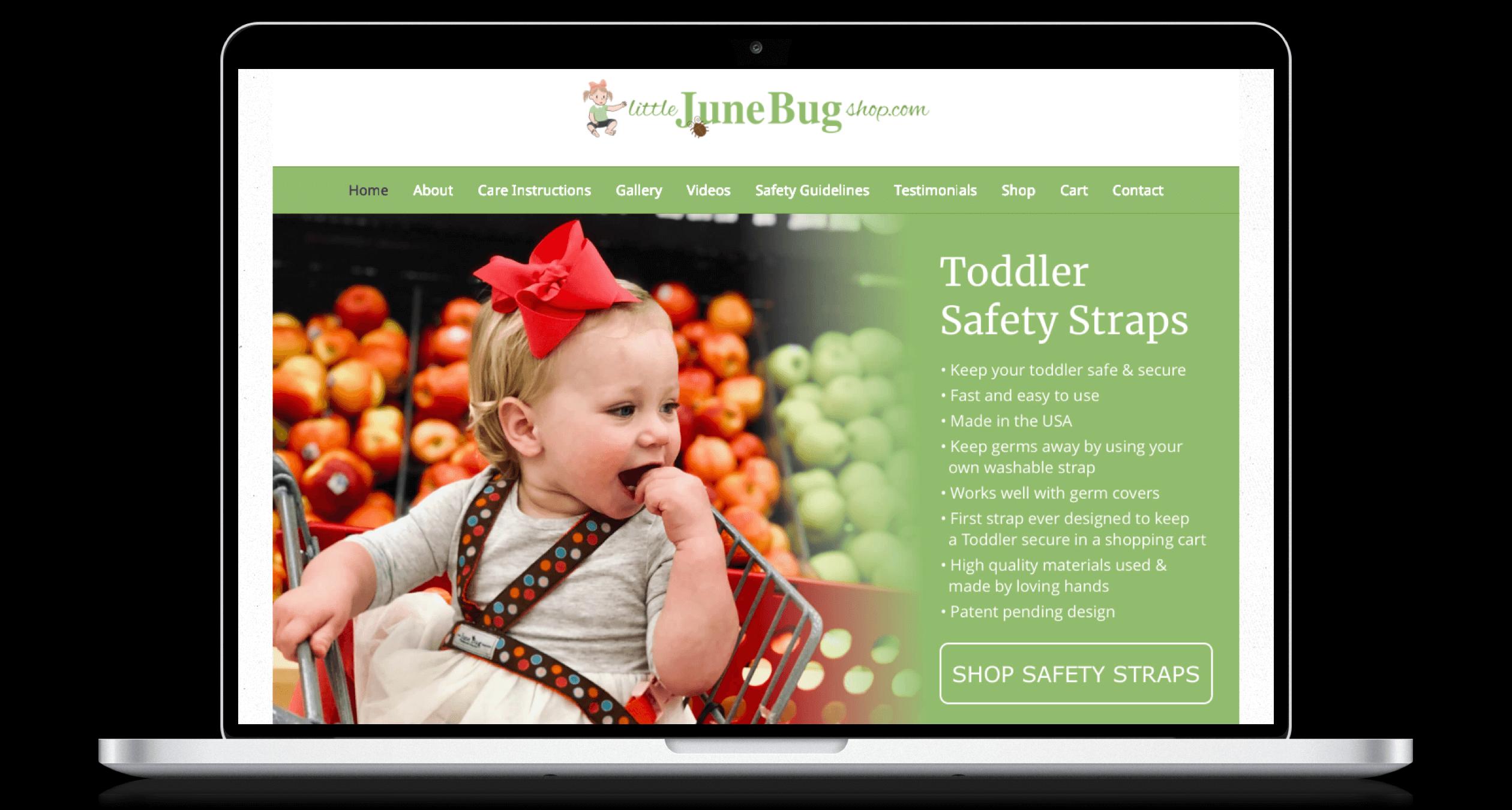 PHX-Web-Agency-Little-June-Bug-Shop-Child-Safety-Belts-Website-Design-After