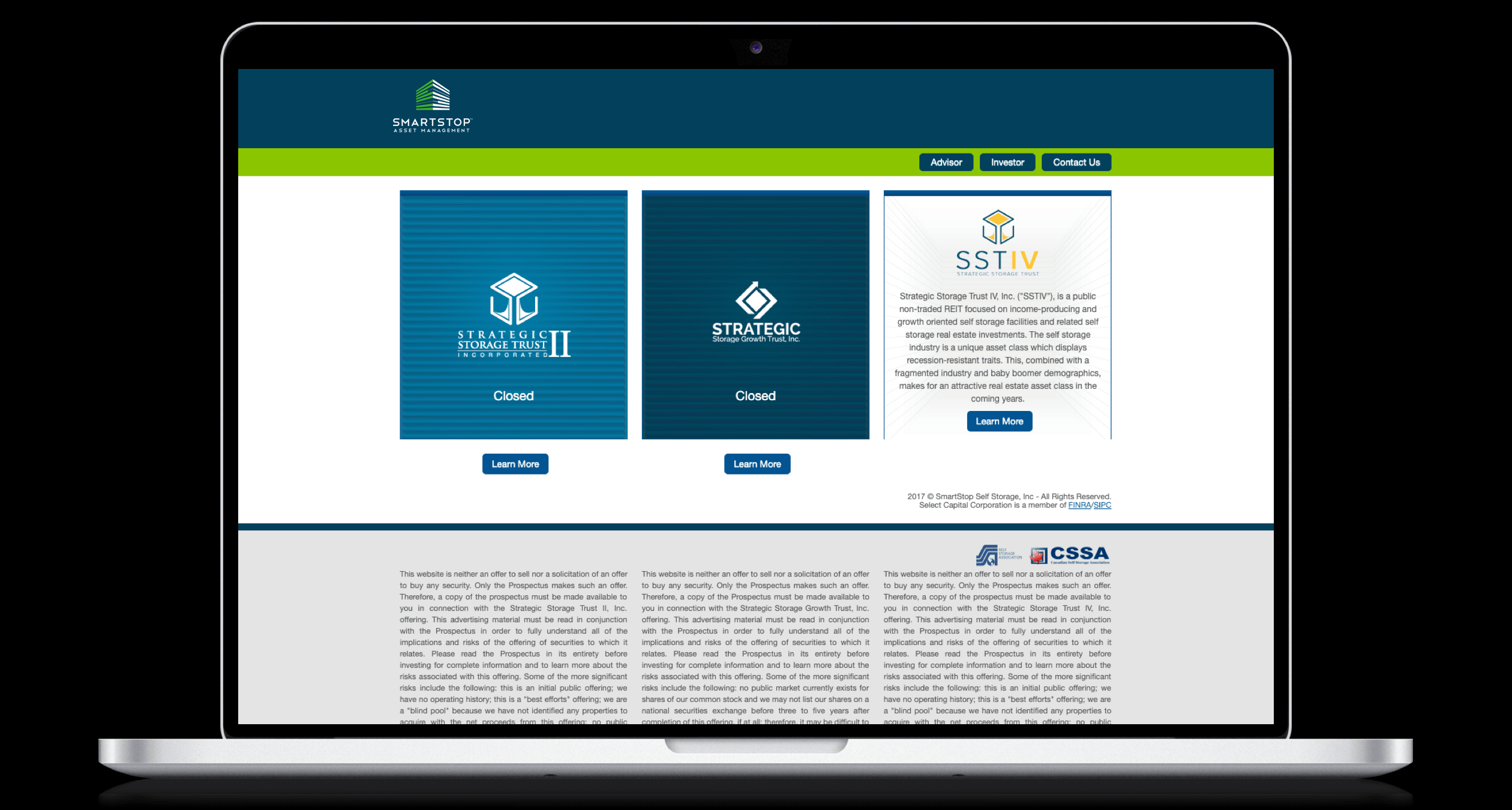 PHX-Web-Agency-Strategic-REIT-Website-Design-REIT-and-1031-Exchange-Real-Estate-Investment-Trust-Before