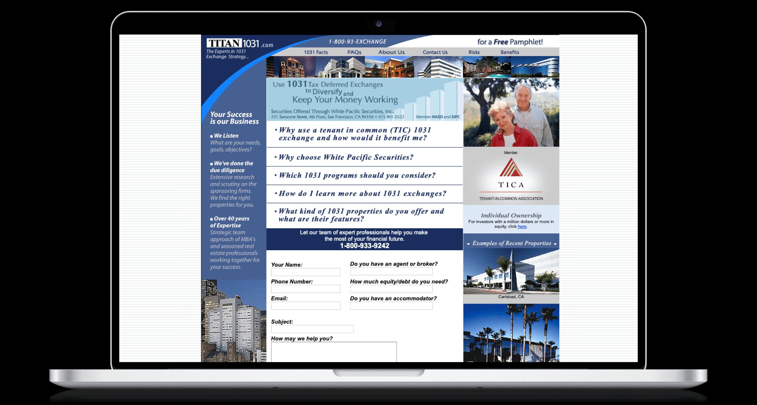 PHX-Web-Agency-Titan-1031-Real-Estate-Exchange-Website-Design-Before