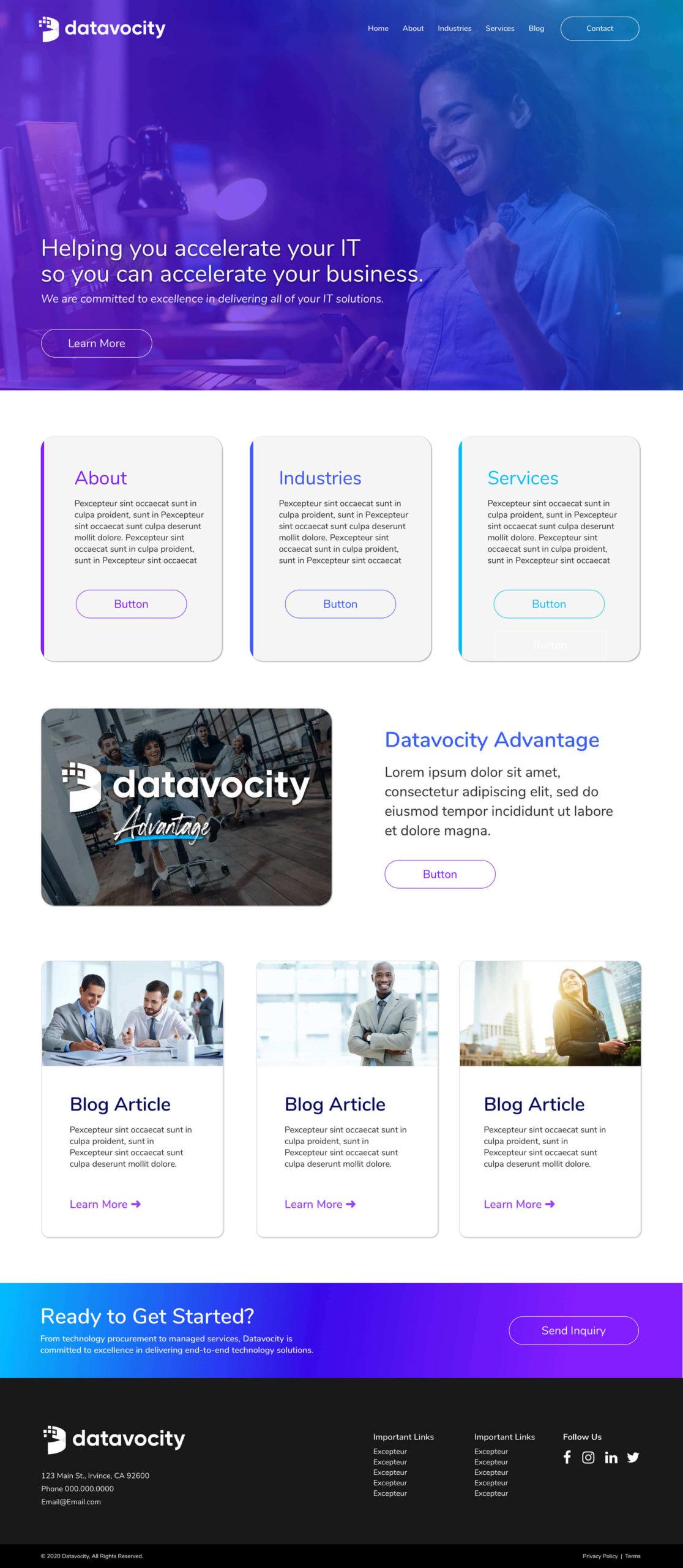 Datavocity-Homepage